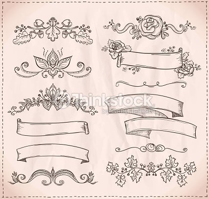 Handdrawn graphic line elements for scrabooking love and wedding hand drawn graphic line elements for scrabooking love and wedding theme vector junglespirit Gallery