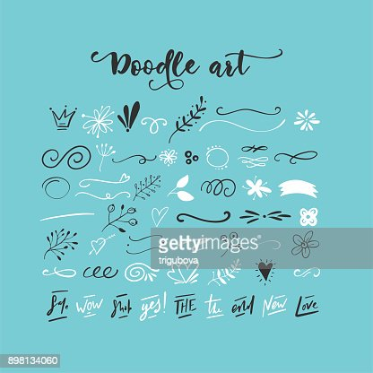 Handdrawn vector doodles : Vector Art