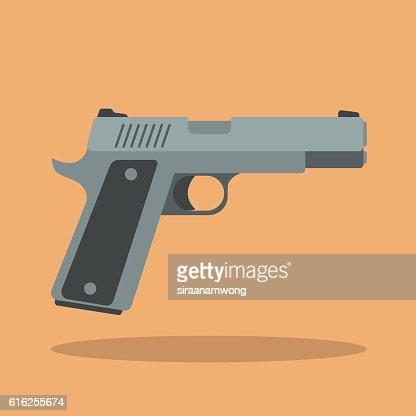 Handgun : Vector Art
