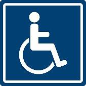 Vector illustration of handicap sign.