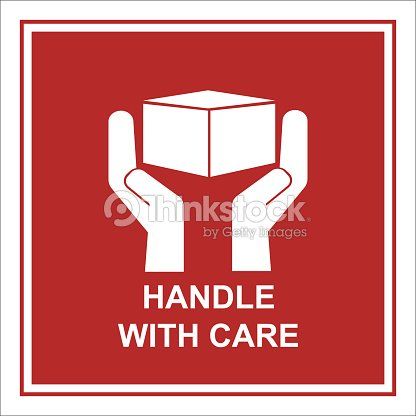 handle with care sign isolated vector arte vetorial thinkstock