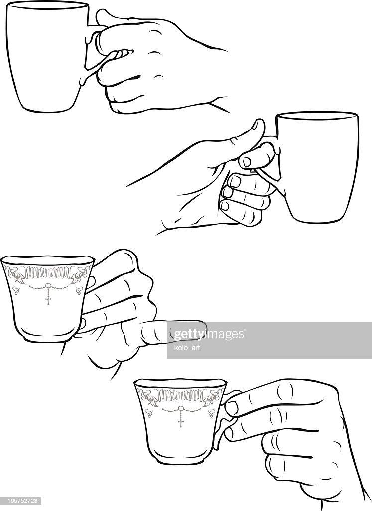 Как нарисовать руку держащую кружку