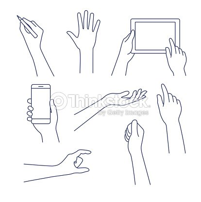 Hands line icon. Vector illustration. Editable stroke. : stock vector