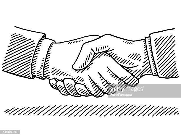 Handshake Business Agreement Drawing