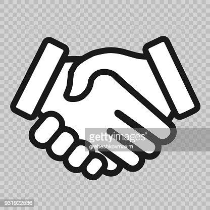 handshake icon : stock vector