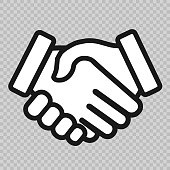 handshake icon. background for business and finance