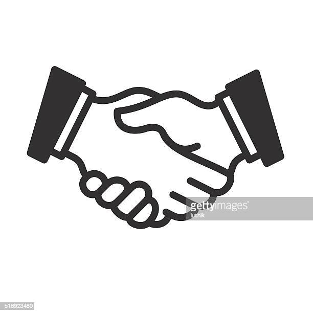 Handshake linear icon. Vector