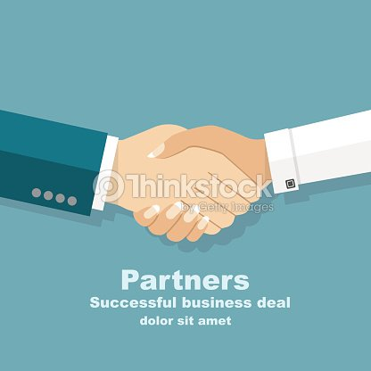 Handshake men and women. Handshake of business people partners b