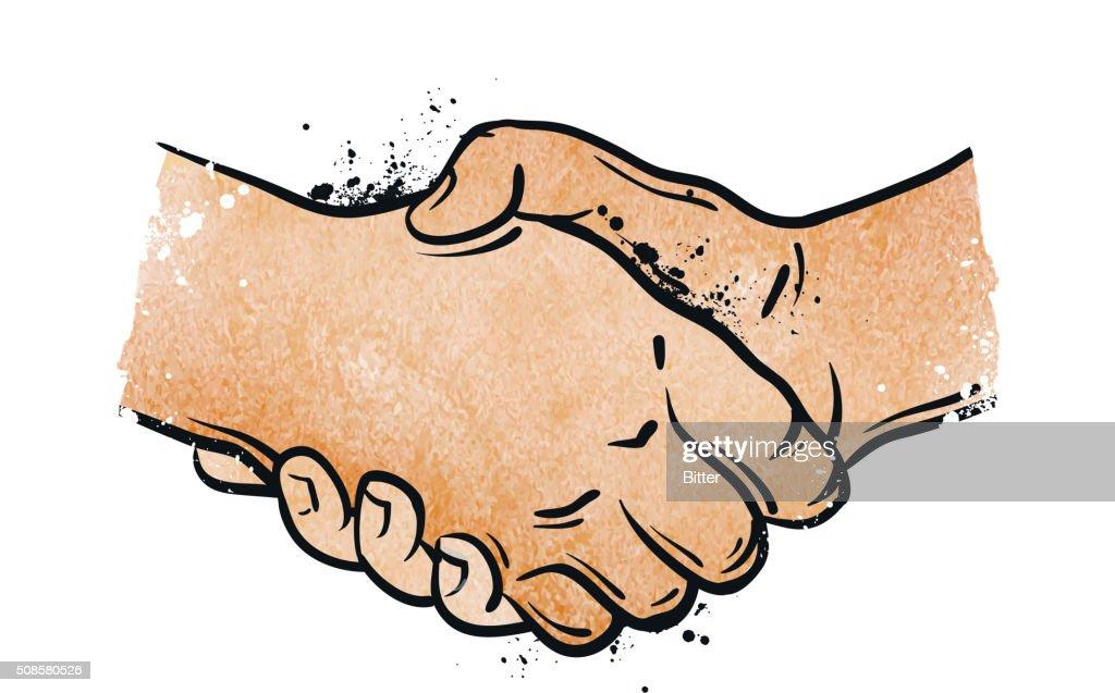 Handshake. Vektor-illustration : Vektorgrafik
