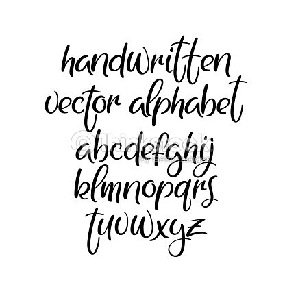 Handschriftliche Pinsel Schriftart Brushpen Vektor Alphabet Moderne