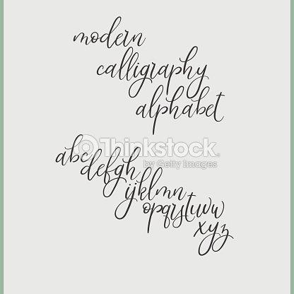 Handschriftliche Pinsel Briefe Abc Moderne Kalligraphie