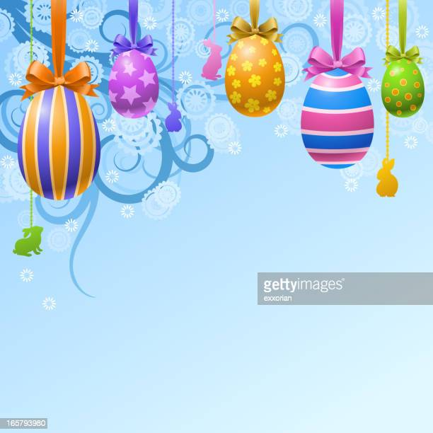 Hang Up Easter Eggs Decoration