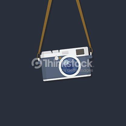 カメラをぶら下げ : ベクトルアート