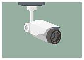 simple illustration of hanging CCTV