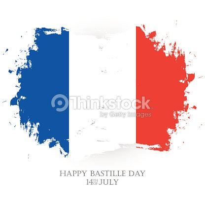 Happy bastille day 14th of july holiday greeting card with french happy bastille day 14th of july holiday greeting card with french national flag brush stroke m4hsunfo