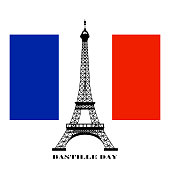 abstract bastille day background with some special objects