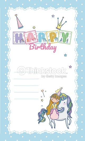 Happy Birthday Card For Little Girl Vector Art Thinkstock
