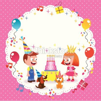 Happy Birthday Card Template Vector Art Thinkstock