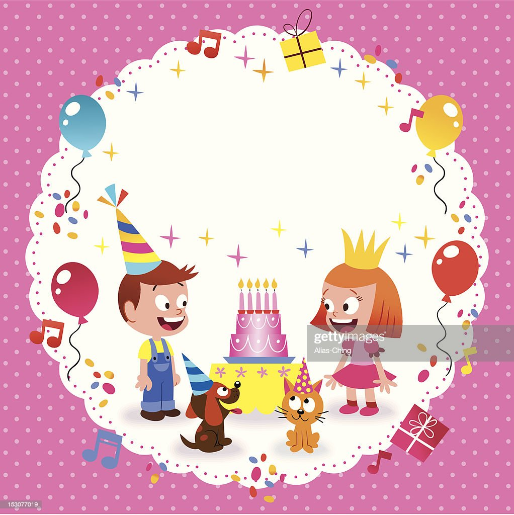 Happy Birthday Card Template : Vector Art