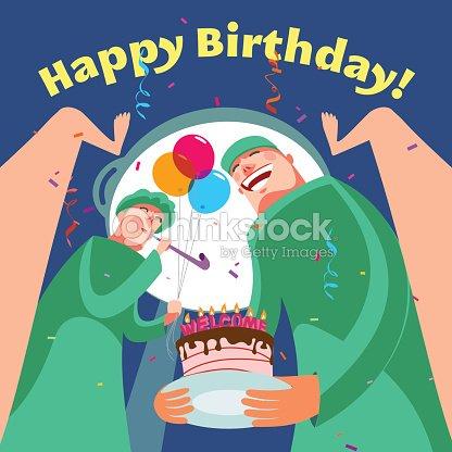 Happy Birthday Card Vector Art – Happy Birthday Card for Doctor