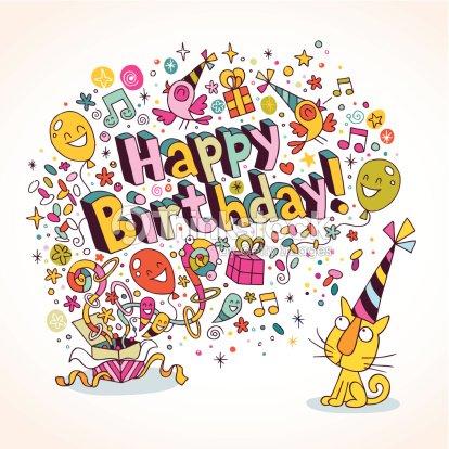 Happy Birthday Card Vector Art – Birthday Card Art