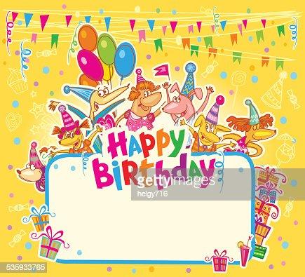 Happy birthday card : Vector Art