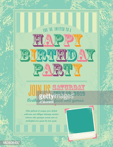 Birthday Layout Template