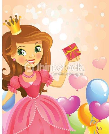 Happy Birthday Princess Greeting Card Vector Art Thinkstock