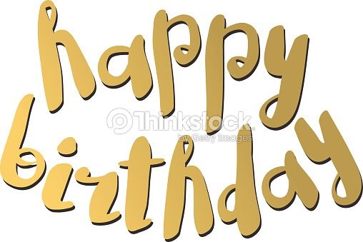 Alles Gute Zum Geburtstag Text Hand Schriftzug Handarbeit