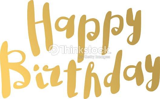 Buon Compleanno Testo Scritta A Mano A Mano Calligrafia Tipografico