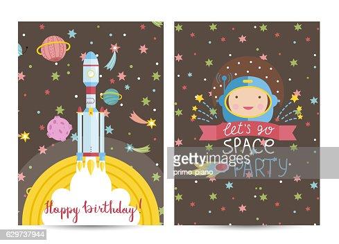 Happy Birthday Vector Cartoon Greeting Card Clipart Vectoriel
