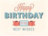 vector happy birthday composition