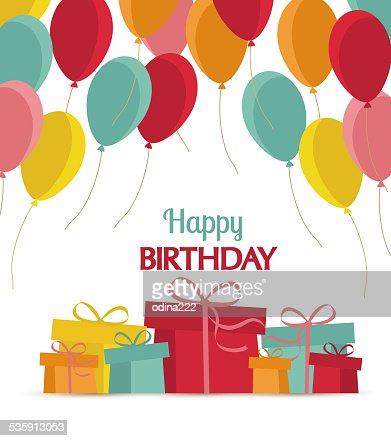 Feliz aniversário : Arte vetorial
