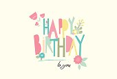 Birthday card with unusual letters