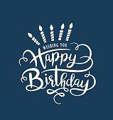 Happy Birthday handwriting lettering design