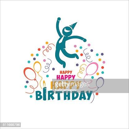 happy birthday vector art