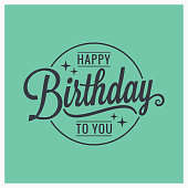 happy birthday vintage lettering card background 8 eps