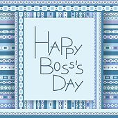 Happy boss day invitation card. Vector background. 16 october