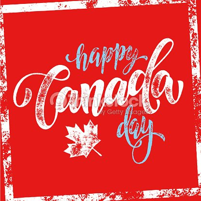Glücklich Kanada Tag Grußkarte Poster Vektorgrafik | Thinkstock