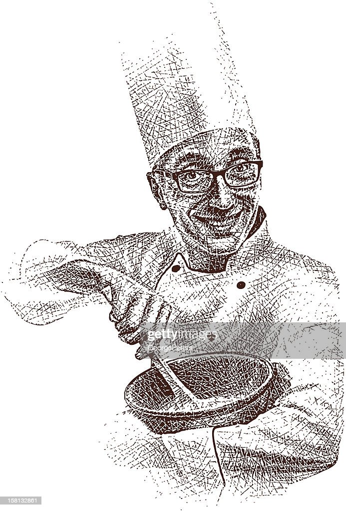 Happy Chef : Vector Art