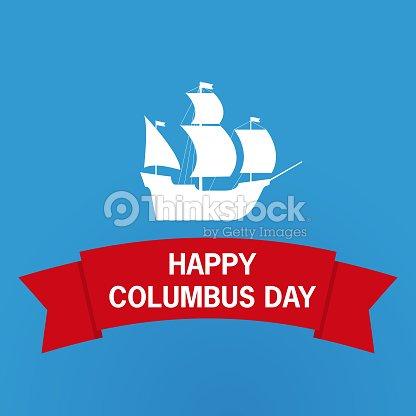 Happy Columbus Daysailing Shipnational Usa Holiday Gift Card