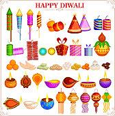 easy to edit vector illustration of Happy Diwali festival design object