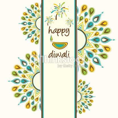 Happy diwali greeting card design vector art thinkstock happy diwali greeting card design vector art m4hsunfo