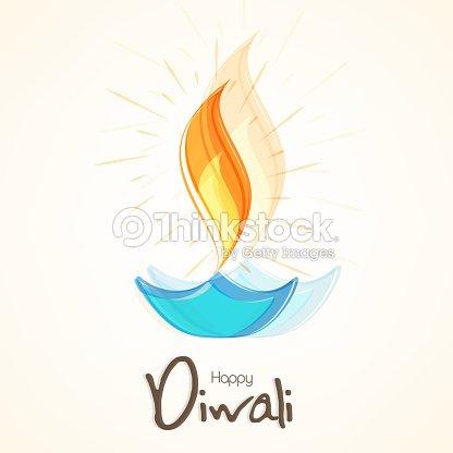Happy diwali greeting card with illuminated colorful oil lit lamp happy diwali greeting card with illuminated colorful oil lit lamp vector art m4hsunfo