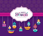 Diwali Hindu festival greeting card