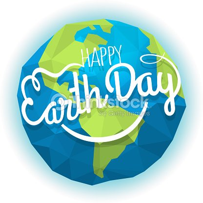 Happy Earth Day Concept Vector Symbol With The Smile Smiling Earth