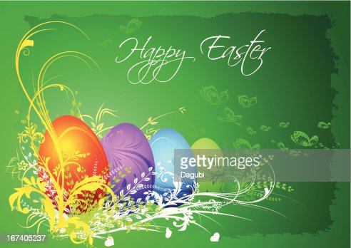 Happy easter card : Vector Art