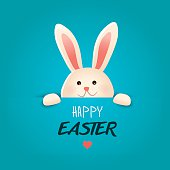 Happy Easter greeting card.Vector