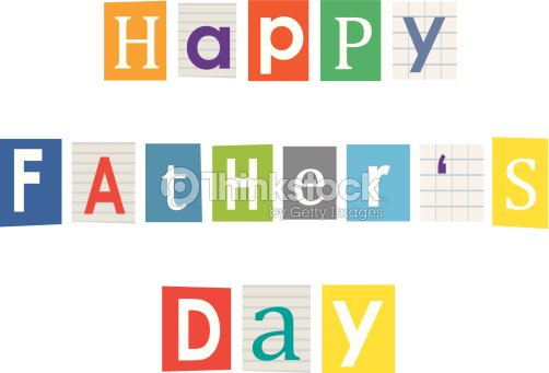 Happy fathers day letters cut out of books and magazines vector art letters cut out of books and magazines spiritdancerdesigns Choice Image