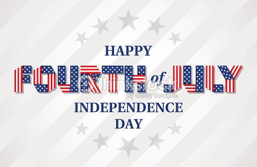 Happy Fourth of July Independence Day banner for USA national holiday. Vector illustration.